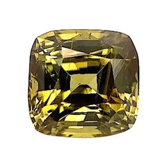15.52 Carat Faceted Chrysoberyl Cushion, Unset Loose Pendant Ring Gemstone