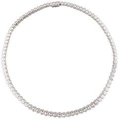 15.55 Carat Diamond 18 Karat White Gold Ladies Tennis Necklace