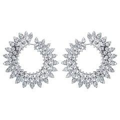 15.59 Carat Diamond 18 Karat Gold Earrings