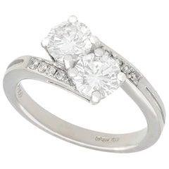 1.56 Carat Diamond and Platinum Twist Ring