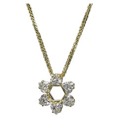 1.56 Carat Heart Shape Diamond Pendant 18K Yellow Gold