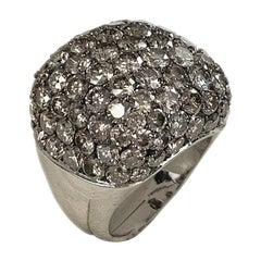15.60 Carat Round Diamond Dome Ring White Gold