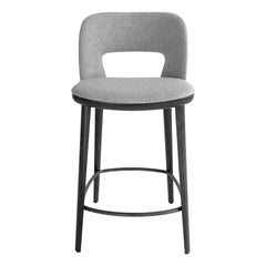 Grey Bar Stool by Carlesi Tonelli, Made in Italy, In stock in Los Angeles