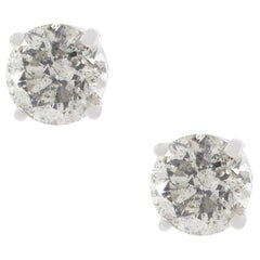 1.57 Carat Diamond Stud Earrings