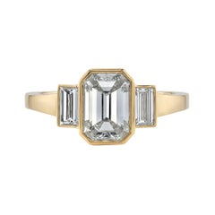 Handcrafted Amelia Emerald Cut Diamond Ring by Single Stone