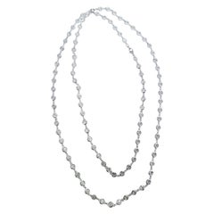15.71 Carat Total Diamond Necklace in 14 Karat White Gold