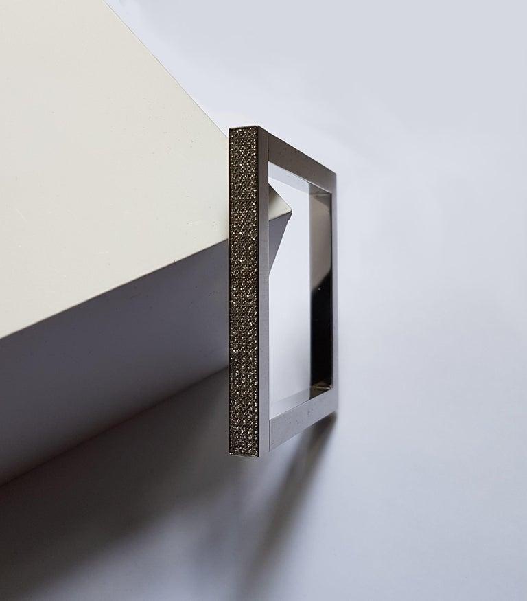 Modern Henrich & Denzel 1.58 Carat Diamond Platinum Bangle Bracelet  For Sale