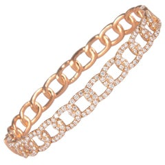 1.59 Carat Diamond Bengal 18 Karat Rose Gold Open Clasp