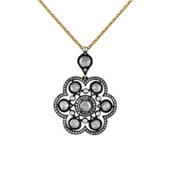 1.59 Carat Rose Cut Diamond Heritage Necklace
