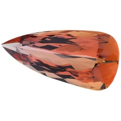 15.90 Carat Pear Shape Orange Imperial Topaz, GIA Certified