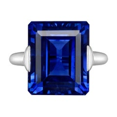 15.99 Carat Ceylon Sapphire Solitaire Ring