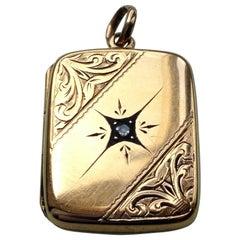 15ct Gold Art Deco Diamond Set Locket
