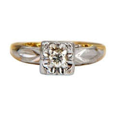 .15ct Vintage Solitaire Ring 14kt