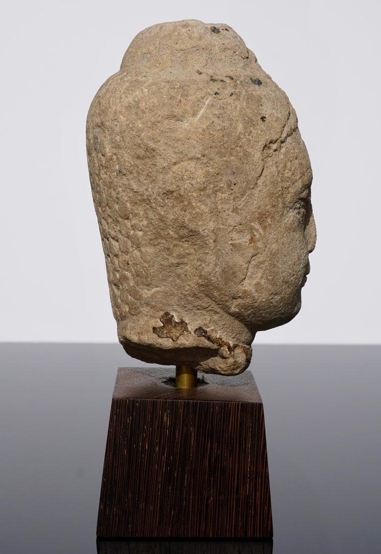 18th Century and Earlier 15th-16th Century Thai Sandstone Buddha Head For Sale