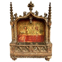 15th C Gothic Tabernacle 4 ft.+ Rare Architectural Religious Art, Museum Quality