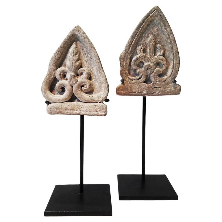 15th Century Ceramic Shields, Sukhotai, Thailand For Sale