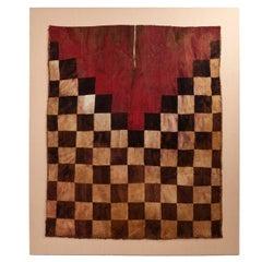 15th Century Checkerboard Warrior's Tunic from the Inca Culture, Peru