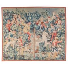 15th Century Gothic Tournai Design Medieval Unicorn Hunting Scene Recreation
