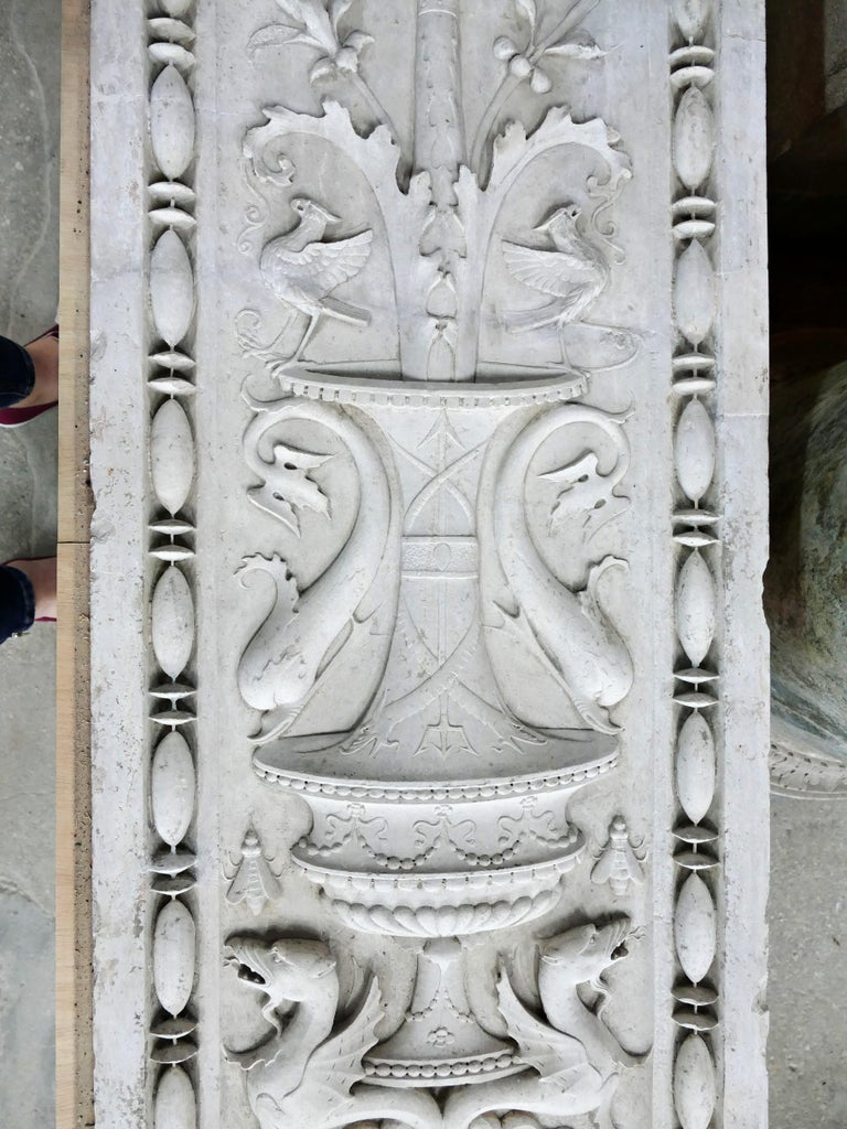 Carved 15th Century Pair of Italian Renaissance Pilasters For Sale