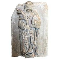 15th Century Stone Carving of Saint Apollonia