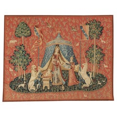 """15th Century Tapestry Recreation, """"Taste"""" From the Lady with the Unicorn Series"""