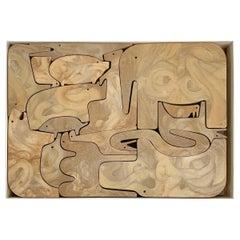 """16 Animali"" Toys Puzzle by Enzo Mari for Danese Milano, Italy, 1972"