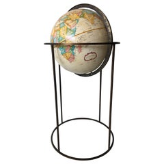 Brass Base Large Modern World Globe