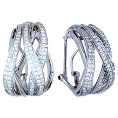 1.6 Carat Diamond Criss Cross Hoops