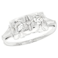 .16 Carat Diamond White Gold Art Deco Engagement Ring