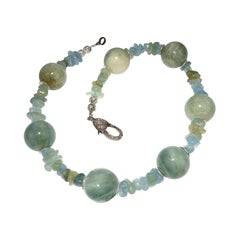 Aquamarine Choker Necklace March Birthstone