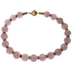 Rose Quartz Choker Necklace
