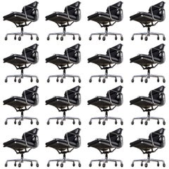 16 Soft Pad Management Chairs by Charles Eames for Herman Miller