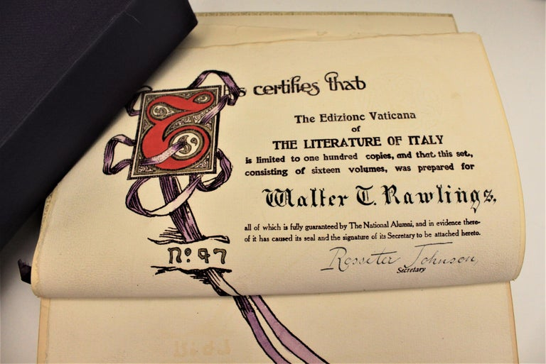 Other 16 Volume Book Set of the Literature of Italy from 1265-1907 for Walter Rawlings For Sale