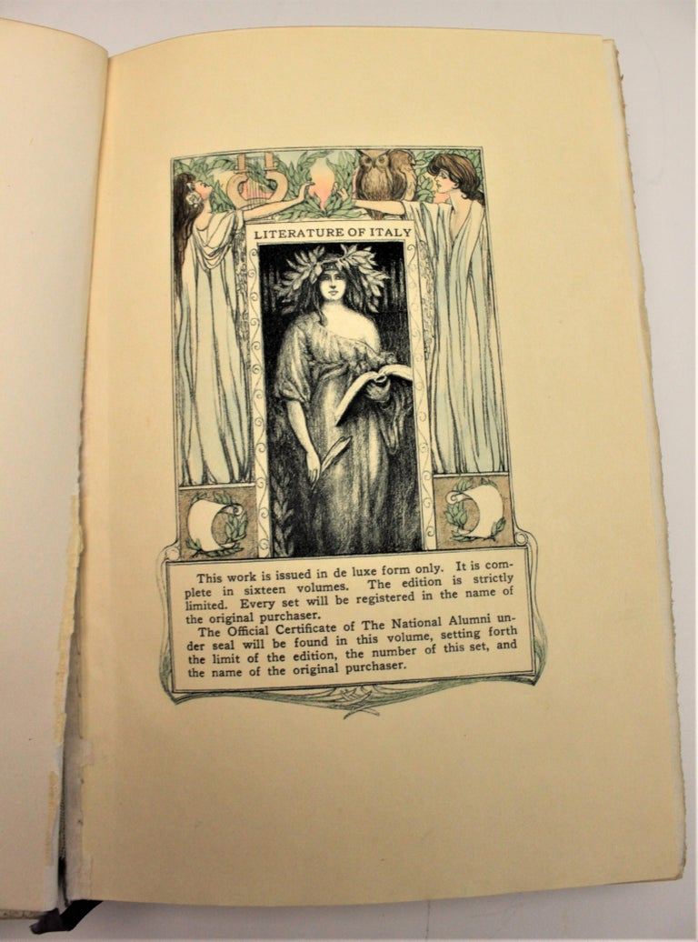 20th Century 16 Volume Book Set of the Literature of Italy from 1265-1907 for Walter Rawlings For Sale