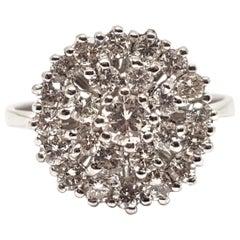 1.60 Carat 18 Karat White Gold Vintage Diamond Ring