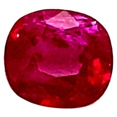1.60 Carat Cushion-Cut Unheated Burmese Ruby