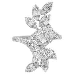 1.60 Carat Diamond 18 Karat White Gold Engagement Ring
