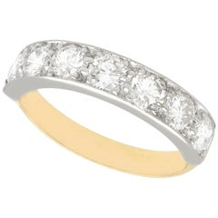 1.60 Carat Diamond Yellow Gold Seven-Stone Ring