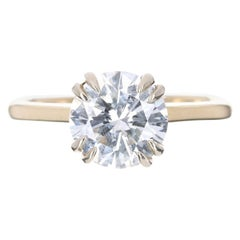 1.60-Carat GIA 18K Brilliant Round H Color Diamond Solitaire Gold Ring