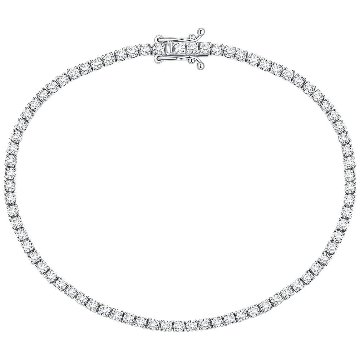 1.60 Carat Round Diamond Tennis Bracelet 18K White Gold/18K Yellow/Rose Gold