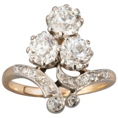 1.60 Carat Diamonds French Antique Ring