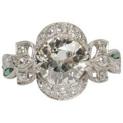 1.60 GIA Certified Carat Diamond Platinum Engagement Ring