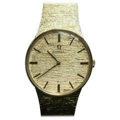 160 Vintage Omega Bracelet Watch 14 Karat Yellow Gold DD6854