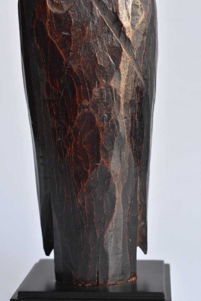 1600s-1800s Japanese Wood Carving Jizo Bodhisattva or Buddha Statue Edo Period For Sale 10