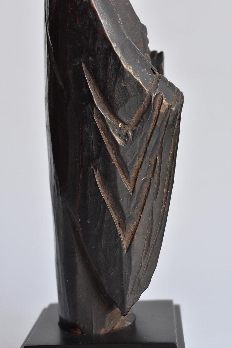 1600s-1800s Japanese Wood Carving Jizo Bodhisattva or Buddha Statue Edo Period For Sale 12