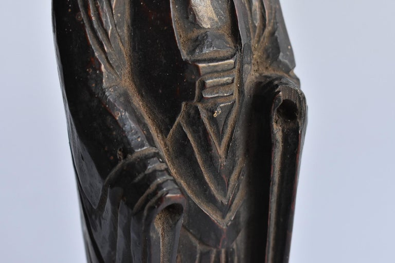 1600s-1800s Japanese Wood Carving Jizo Bodhisattva or Buddha Statue Edo Period For Sale 4