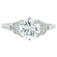 1.60 Carat, G/H-VS Diamond Solitaire Art Deco Ring, circa 1920s