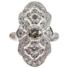 1.62 Carat Certified Round Brilliant Diamond 18 Carat White Gold Ring