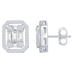 1.62 Carat Emerald Cut Earrings with Halo