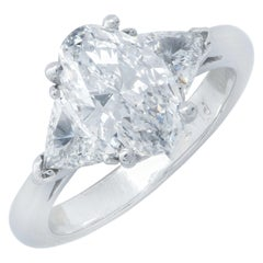 1.62 Carat GIA Graded D/VS2 Oval Cut Diamond Platinum Engagement Ring